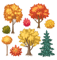 trees autumn vector image vector image