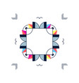 trendy card frame style design abstract geometric vector image vector image
