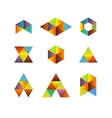 Triangle based logos vector image vector image