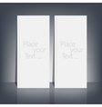 Two White blank stationary near the black wall vector image