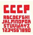 USSR font set vector image vector image