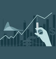 vaccine discovery impact on stock market vector image vector image