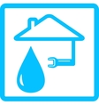 water icon with drop and wrench vector image
