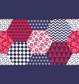 xmas naive winter symbols seamless pattern vector image vector image