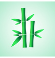 simple green bamboo plant leaves icon eps10 vector image