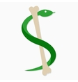 snake and bone logo template Viper symbol vector image