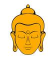 head of buddha icon cartoon vector image