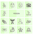 14 person icons vector image vector image