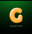 3d playful letter g kids and joy style symbol vector image vector image