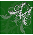 abstract light curls on a green background vector image