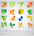 abstract logos for your business vector image