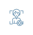 add user line icon concept add user flat vector image vector image