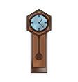 antique clock icon image vector image vector image