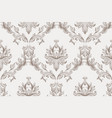 baroque ornament pattern background vector image vector image