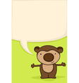 bear hug card vector image