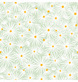 beautiful white daisies on mint background vector image vector image