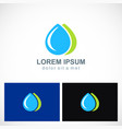 bio water drop ecology logo vector image vector image