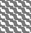 Black and white striped ribbons diagonal vector image vector image