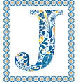 Blue letter J vector image vector image