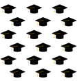 cap or hat for ceremony university graduation vector image vector image