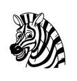 cartoon smiling happy zebra head