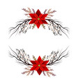 christmas decoration isolated vector image vector image