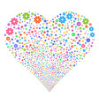 cog fireworks heart vector image vector image