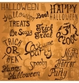 Collection of Halloween hand typography designs vector image vector image