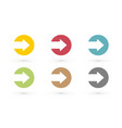 colorful arrows in circle icon vector image