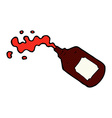 comic cartoon squirting blood bottle vector image vector image
