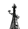 Communication antenna vector image