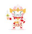 cute cartoon hanuman thai character vector image