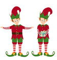cute elves collection vector image