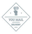 delivery logo simple gray style vector image vector image