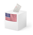 election in united states of america ballot box vector image