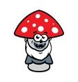 Evil Mushroom Cartoon vector image