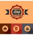 flat coffee shop design elements vector image vector image