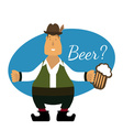 Flat of german men with beer vector image vector image