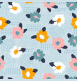 floral abstract seamless pattern design vector image