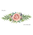 floral bouquet design garden pink peach lavender vector image