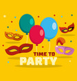 funny carnival logo flat style vector image vector image