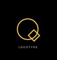 geometric shape letter q line monogram vector image vector image