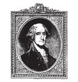 george washington vintage vector image vector image