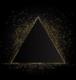 golden magic fire triangular frame vector image