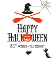 Halloween card invitation vector image