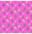 Hands and Ice Cream Seamless Pattern vector image vector image