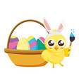 happy chick easter vector image vector image