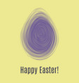 happy easter ultra violet card egg hunt for vector image vector image