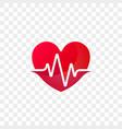 heart heartbeat logo icon vector image vector image