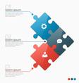 infographic template with 3 puzzle sections vector image vector image